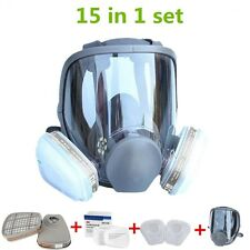 15 in 1 Large size Gas Mask Full Face Facepiece Respirator Painting Spraying