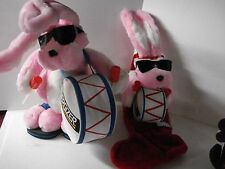 "2PC LRG Plush Energizer Pink Bunny Drum 24"" & Energizer Bunny Christmas Stocking"
