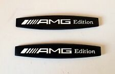 2pcs Mercedes AMG Edition Black Badge Emblem C63 E55 CLS55 SLK C E S Class UK
