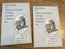 Bulletin of the National Association of Watch & Clock Collection 2 Booklets 1975