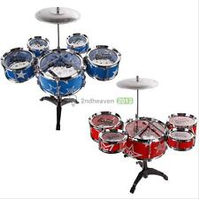 Kids Drum Set Kids Toy with Cymbal Sticks Stool Throne Child Boys Toy Drum Kit