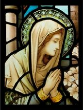 "~Post Card~Postcard-""Madonna in Prayer...on Stained Glass"" /Picture/ (B-6)"