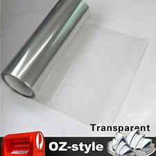 A4 x 2 Transparent Car Headlight Tint Film Sticker Clear Tail Light Cover Sheet