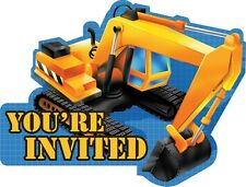 Under Construction Invitations (8) - Boys Themed Birthday Party Supplies
