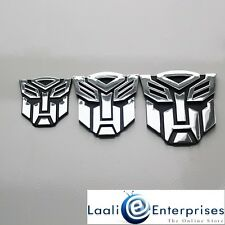 Transformers Autobots 3D Chrome Car Badge Emblem Sticker for Home/Office/Laptop