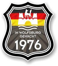 À wolfsburg umfang 1976 made in wolfsburg shield pour vw camper van autocollant voiture