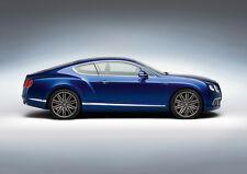 BLUE BENTLEY GT STUDIO NEW A2 CANVAS GICLEE ART PRINT POSTER FRAMED