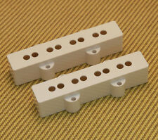 PCJB-W (2) White Jazz Bass Pickup Covers Set for Fender USA Neck & Bridge Spaced