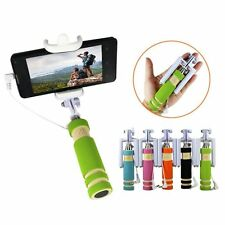 Pocket Selfie Stick Extendable With AUX Cable For iPhone & Android Mobile Phone