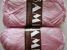 MeiMei Bamboo 100% bamboo yarn, soft pink, lot of 2 (181 yds ea)
