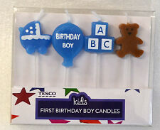 BIRTHDAY PARTY 1ST FIRST HAPPY BIRTHDAY BOYS BIRTHDAY CAKES CANDLES PACK OF 4 NO