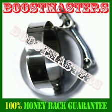 """2X 2.5"""" STAINLESS TURBO INTAKE INTERCOOLER SILICONE T-BOLT CLAMPS COUPLER"""