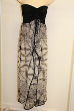 New Raviya Swimsuit Cover Up Maxi Dress Size L Black Strapless