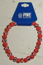 Pine Sports Texas Tech Clay Beaded Anklet