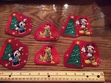 Disney Christmas Mickey & Minnie Mouse & Pluto Fabric Iron On Appliqués (sty#2)