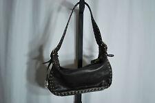 Donald Pliner Wax Stitched Bag In Dark Brown