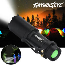 800 Lumens 3 Mode LED Flashlight Torch Lamp Light Outdoor Tool AA/14500 Black