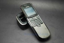 Nokia 8800 Black unlocked Classical GSM Mobile Cellular Phone bundle phone base