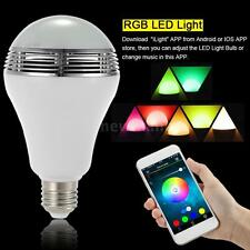 E27 Bluetooth4.0 Control Smart Music Audio Speaker LED RGB Color Bulb Light Lamp