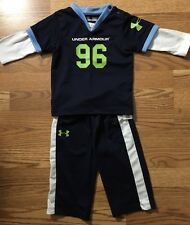 Under Armour Outfit Baby Toddler Size 12 Months Lime Green And Blue