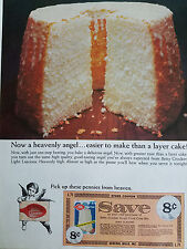 1966 Betty Crocker Heavenly Angel Food Cake Coupon Original Ad