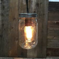 Mason Jar Patio Lamp Fixture and Large Bulb Included, Hanging Vintage Lights