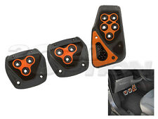 GUNMETAL ORANGE M/T CLUTCH BRAKE GAS PEDAL PADS FOR CROSSFIRE CHALLENGER WRANGLE