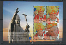 Gambia 2014 MNH Canonization Blessed Pope John Paul II 4v M/S Popes