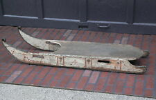 Antique Primitive 19th Century Early 1900s CLIPPER Wood Snow Sled