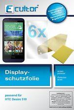 6x Ecultor HTC Desire 510 klare Displayschutzfolie Crystalclear unsichtbar Folie