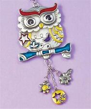 """Hanging Rear View Mirror Charm 7""""L Ornament OWL Color Art Car Auto Vehicle NEW"""
