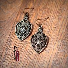 Boucles d`Oreilles Goutte Poire Creux Baroque Vintage Style Original Cadeau DD 1