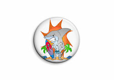 Surf - Requin 1 - Badge 56mm Button Pin
