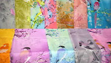 Joblot 24 pcs Birds & Flower design chiffon scarf wholesale 50x160 cm Lot 53