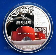 World Expo 2010 Shanghai Colored Silver Coin Token - Australia Pavilion