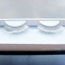 1 Pair White Exaggerate Long Thick Artificial False Eyelash for Prom Party
