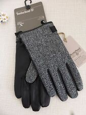 BNWT Timberland Harris Tweed & Sheep Leather Fleece Lined Gloves  size M