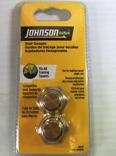 Johnson Level Brass Stair Square Gauge Set 405 Fits Contractor Framing Squares