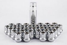 "Set 32 9/16"" Spline Open End Lug Nuts w/Key for 8 Lug Dodge Trucks W1916STO"