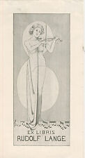 Ex libris Erotic Exlibris ART DECO by Unknown artist /germany