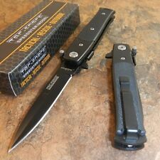TAC-FORCE FAST Assisted Opening Black G-10 Stiletto Speedster Knife Brand NEW!!!