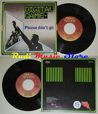 LP 45 7'' DIGITAL GAME Please don't go Elf's chant love 1985 italy cd mc dvd*
