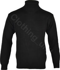 "Mens ""Roll"" Turtle Polo Funnel Neck Jumper Knitted Winter Top"