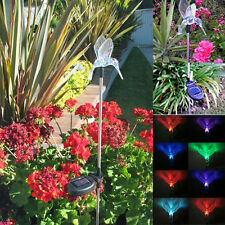 Solar Powered Hummingbird Garden Yard Stake Color Changing LED Light