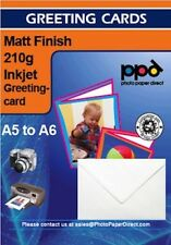 A5 Matt Greetings Card Photo Paper 210g With Envelopes x 50 Sheets