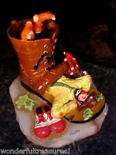 LG RARE Sole-Full 1992 Clown Asleep Boot Shoe Figurine Statue RON LEE 617/750!