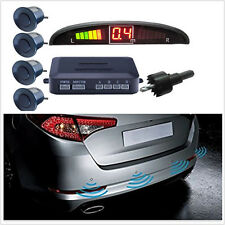 4 Parking Sensor Reversing Radar Kit Reverse LED Display Buzzer Alarm waterproof