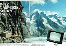 PUBLICITE ADVERTISING 056  1983   Grundig  téléviseur Monolith (2p) 66 cms
