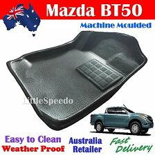 Mazda BT50 2012 - Current Floor Mats Water Proof Tailor Made FRONT PAIR Black