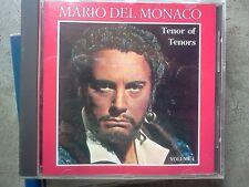MARIO DEL MONACO -TENOR OF TENORS - CD COME NUOVO (MIND)